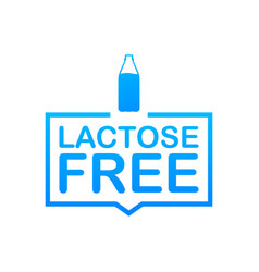 Lactose free icon contains no lactose label for vector