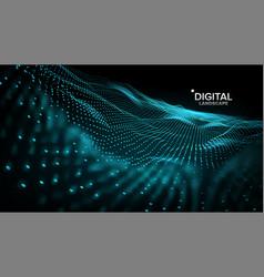 Landscape cyber concept futuristic vector