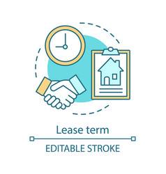 Lease term concept icon vector