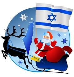 Merry Christmas Israel vector image