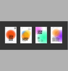 minimalist posters set with gradient shape vector image