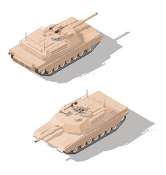 modern main battle tank with dynamic defense vector image