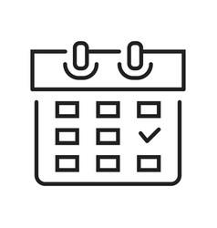 monochrome calendar schedule planner icon vector image