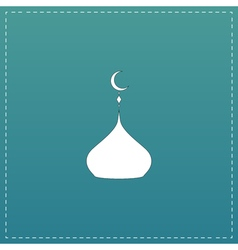 mosque dome icon vector image