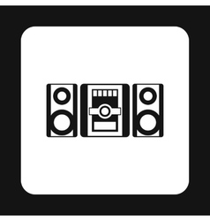 Music center icon simple style vector image