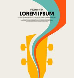 Music festival poster design template modern vector