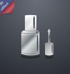 NAIL POLISH BOTTLE icon symbol 3D style Trendy vector
