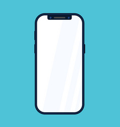 New phone front side drawing eps10 format vector