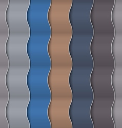 Paper vertical seamless wavy pattern vector image