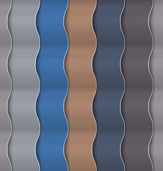 Paper vertical seamless wavy pattern vector