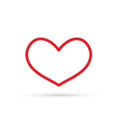 popular heart drawing love valentine sign symbol vector image