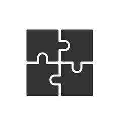 puzzle symbol vector image