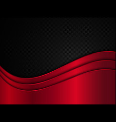 Red and black metallic background vector