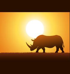 Rhinoceros silhouette vector