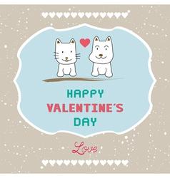 Romantic card41 vector image
