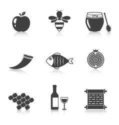 Rosh Hashanah Shana Tova icons vector image