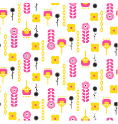 scandinavian folk floral art pattern seamless vector image