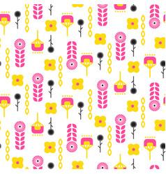 Scandinavian folk floral art pattern seamless vector