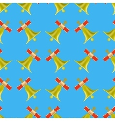 School Bell Seamless Pattern vector