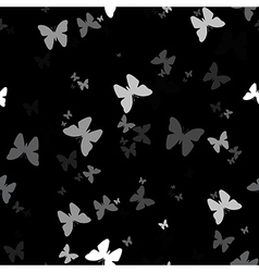 Seamless background with pattern of butterfly vector image