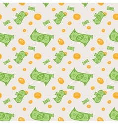 seamless pattern money bills and coins vector image
