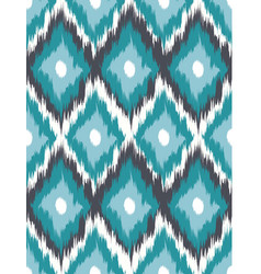 seamless pattern tribal art ikat vector image