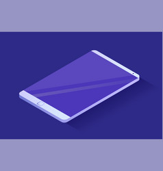 smartphone with blank screen modern phone vector image