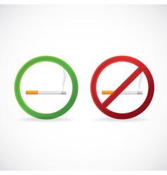 Smoking vector image