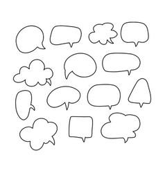 speech bubble thin line icon set communication vector image