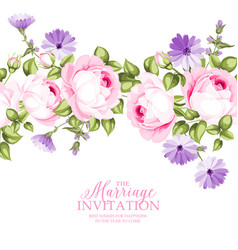 The marriage invitation card vector