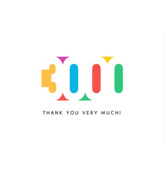 Three thousand subscribers baner colorful logo vector