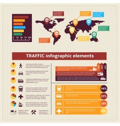 Transport traffic infographics elements vector image