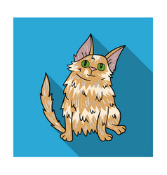turkish angora icon in flat style isolated on vector image vector image