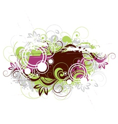 vegetative abstraction vector image