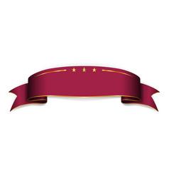 vinous ribbon banner satin blank design label vector image