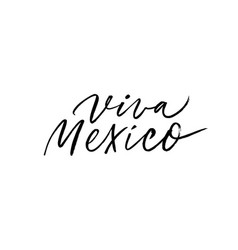 viva mexico tradition mexican holiday calligraphy vector image