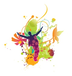 Watercolor abstract vector