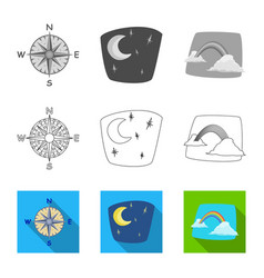 weather and climate symbol vector image