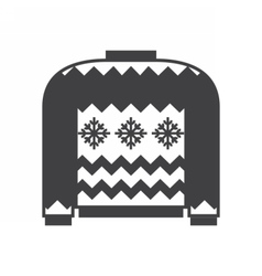 Woolen Winter Sweater vector image