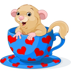 Cute dormouse vector image