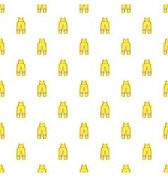 Firefighter costume pattern cartoon style vector image