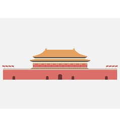 Forbidden City Gate of Heavenly Peace Tiananmen vector image vector image