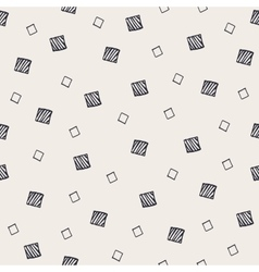 Geometric hand drawn seamless pattern with squares vector image