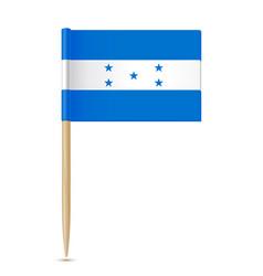 honduras flag flag toothpick 10eps vector image vector image