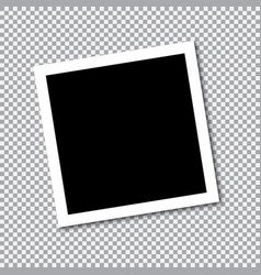 square frame template with shadows vector image vector image