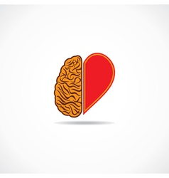 Think from heart and brain concept vector