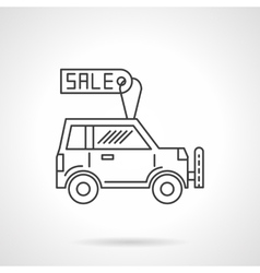 Automobile business icon line design icon vector image