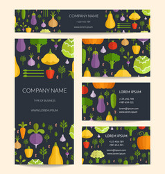 identity for healthy organic food business vector image vector image
