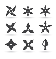 Ninja star icon vector