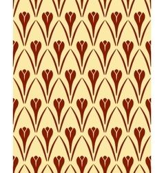 Seamless floral pattern Crocus vintage background vector image
